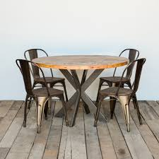Round Top Rustic Modern Kitchen Table Pedestal Table In Etsy