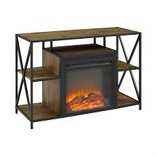 image is loading 40 inch rustic industrial fireplace tv stand barnwood
