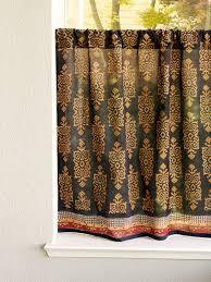 black shower curtains. Kilim Noir ~ Black Gold Tribal-chic Kitchen Curtain Shower Curtains I