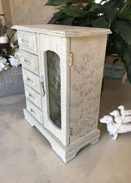 Designer Jewelry Armoire Shabby Chic Jewelry Armoire Vintage Upcycled Jewelry Box