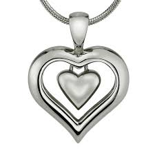 memorial jewelry heart necklace