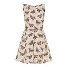 Iska London Size Chart Iska Butterfly And Spot Print Dress Beige Ladies Uk Size 14