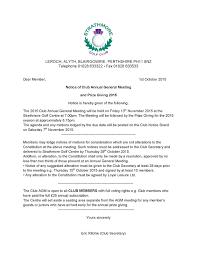 Strathmore Golf Club Gents Notice Of Club Agm