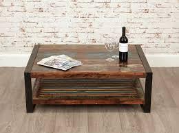 baumhaus urban chic reclaimed wood rectangular coffee table