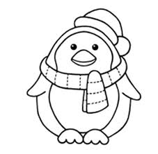 Free printable coloring pages for children that you can print out and color. Penguins A Sweet Little Penguin With Scraf And Santas Hat Coloring Page Penguin Coloring Pages Penguin Coloring Cartoon Coloring Pages