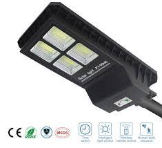 Commercial Motion Sensor Light Switch 90w Intelligent Solar Street Lights Dusk To Dawn 7000lumens 432 Leds Ultra Bright Night Pir Motion Sensor Wireless Waterproof Ip65 Area Security