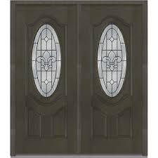 black double front doors. 72 In. X 80 Carrollton Right-Hand Decorative 3/4 Oval Black Double Front Doors O