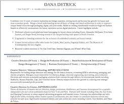 Creative Director Resume Functional Format Brooklyn Resume