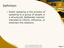 public speaking powerpoint presentation