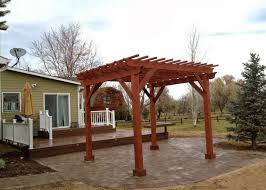 stand alone wood pergola over patio