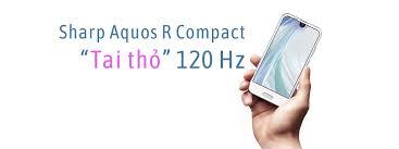 """Sharp Aquos R Compact: Điện thoại màn hình """"tai thỏ"""", tần số quét 120Hz  giống iPad Pro 10.5"""