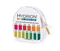 Silver Acid Test Color Chart Hydrion S R Dispenser 0 0 6 0 Ph Range 96 15 Ft Roll W Color Chart Dispenser