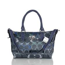 Discount Coach In Monogram Large Navy Totes BWR Clearance