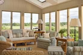 furniture excellent contemporary sunroom design. Amazing Small Sunroom Ideas Highlighting Rustic Fabric Futon With Natural Brown Rattan Frame Also Varnishes Furniture Excellent Contemporary Design C
