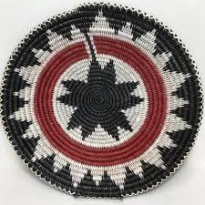 Navajo Basket, Inverse Ceremonial Design, by Peggy Black – Raven Makes  Gallery
