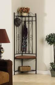 Hall Tree Coat Rack Storage Bench Metal Corner Entryway Hall Tree Coat Rack Stand Home Furniture 45