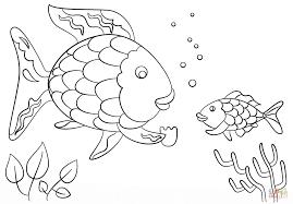 Rainbow Fish Gives A Great Rainbow Fish Coloring Page - Coloring ...