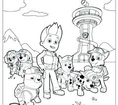 Paw Patrol Coloring Sheets Paw Patrol Coloring Pages Feat Free