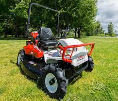 a true riding brush mower