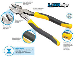 diagonal pliers uses. laseredge pliers use high carbon, 1080 steel, which provides extra strength and hardness without diagonal uses l
