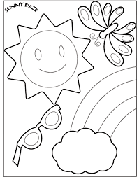 summer coloring pages for pre
