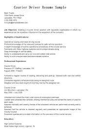 Van Driver Resume Driver Resume Sample Download Van Driver Resume