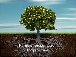 tree in powerpoint fruit tree powerpoint template backgrounds id 0000004318