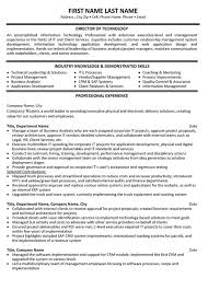 Director Of Development Resumes Director Technology Resume Sample Template