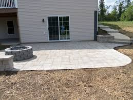 how to build a paver patio on a sloped yard how to build a paver patio with fire pit
