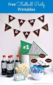 Diy Party Printables Free Football Themed Party Printables