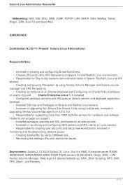 Administrator Job Description Site Image System Linux Admin Resume Inspiration Linux Fresher Resume Format