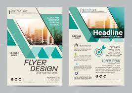 Green Brochure Template Green Brochure Layout Design Template Annual Report Flyer Leaflet