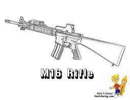 Coloring Pages For Kids Nerf Guns With B B Gun Color Pages Coloring