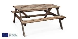 Table De Pique Nique Padano En Pin 6 Places