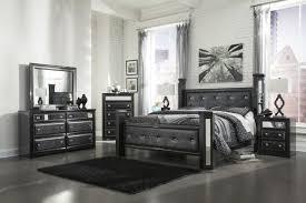 black bedroom sets for girls. Alamadyre Queen Upholstered Poster Bedroom Set In Black Sets For Boys Ashley: Full Size Girls