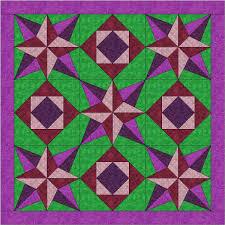 Beaquilter: Blazing Star QUBE quilt for Accuquilt & Blazing Star Quilt Adamdwight.com