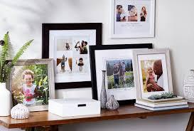 multiple frames on shelf