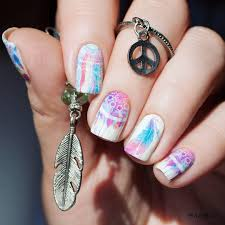 Owl Feather Nail Art Stickers Dreamcatcher Water Decals Nail ...