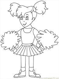 Coloring Pages Of Cheerleaders Coloring Home
