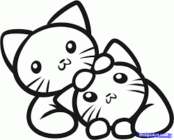 Download Coloring Pages. Cute Cat Coloring Pages: Cute Cat ...