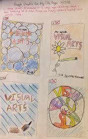 art cover page ideas jennifer as art blog 7 9 visual arts title page