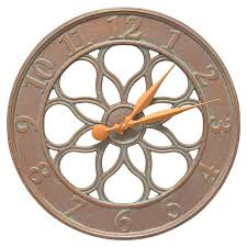 medallion indoor outdoor wall clock s large medallions
