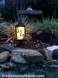 Homemade Solar Lights Very Cool Homemade 8 Solar Address Lantern For Your Front Garden