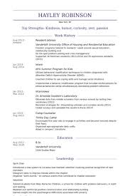 Ra Resume Resident Assistant Resume Creative Resume Ideas Awesome Resident Assistant Resume