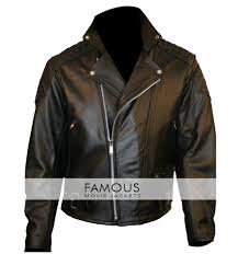 Discount Designer Mens Leather Jackets Mens Black Quilted Motorcycle Leather Jacket Sale
