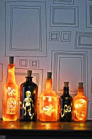 Diy Halloween Light Show How To Make Diy Halloween Lights With Old Bottles Pillar