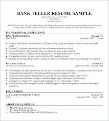 Teller Resume Skills Elegant Bank Teller Resume Inspirational The New Teller Resume