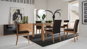 modern dining room decor. Grey Pattern Seat Chairs Armless Modern Dining Room Table Decorating Ideas Fascinating Natural Brown Wooden Storage Nice Black White Painted Great Decor