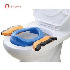 child commode seat 2colors handle portable travel car children boys girls baby potty