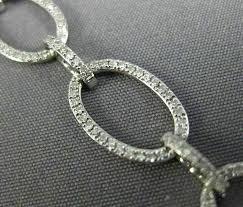 estate wide long 1 41ct diamond 18k white 3d classic oval tennis bracelet gold oknwbp6072 bracelets
